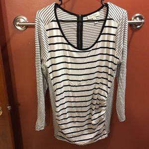 Jessica Simpson Maternity Black & White Stripe Top